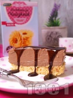 Лек и лесен домашен шоколадов чийзкейк (торта) с маскарпоне без печене - снимка на рецептата